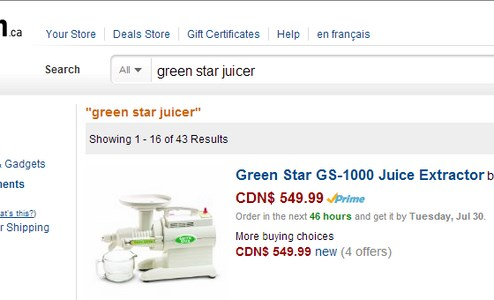 dynamic Amazon search results