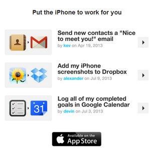 ifttt on iphone