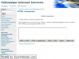 YellowPipe HTML Converter
